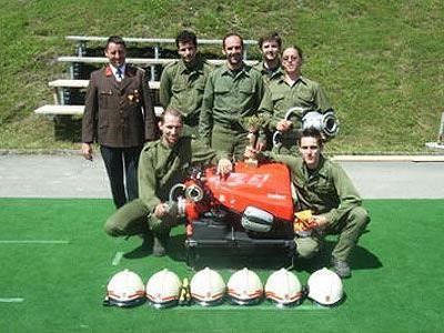 Die Sieger des ersten Kuppelcups im Klostertal: Feuerwehr Wald am Arlberg.