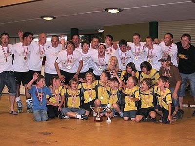 Freude über die Siege beim Rollhockeyclub Dornbirn.