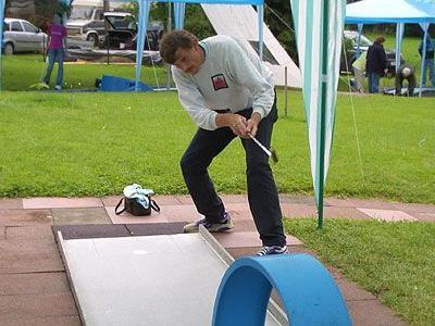 Lokalmatador Hermann Türtscher hofft auf eine Goldmedaille.