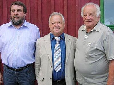 Obmann Karl Lusser (Mitte) mit seinen Vorgängern Horst Egger und Günter Huchler (l.)