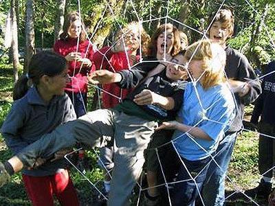 Vor diesem Spinnennetz braucht man sich nicht zu gruseln.