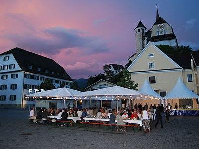 Herrliche Stimmung beim Gourmet-Abend am Rankweiler Marktplatz