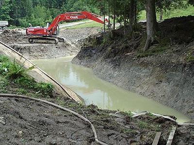 In Schuttannen wird ein Löschwasserteich errichtet.
