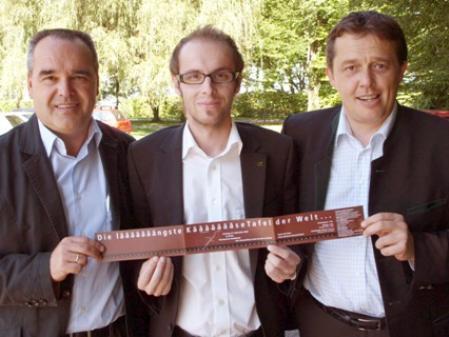"Helmut Blank, Michael Moosbrugger und Hans-Peter Metzler starten den ""KäseHerbst""."