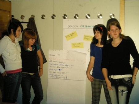 Bereits beim ersten Treffen konnten die Jugendlichen ihre Wünsche kundtun.