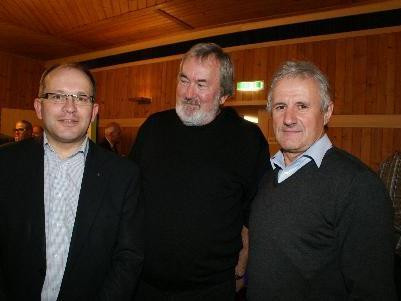 Walter Vögel, Julius Schedel und Josef Moosbrugger
