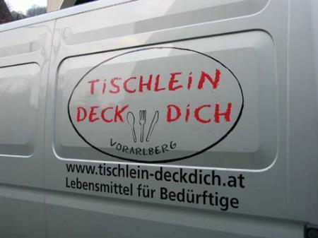 """""""Tischlein Deck Dich"""", ein Rettungsanker für hunderte bedürftige Vorarlberger."""