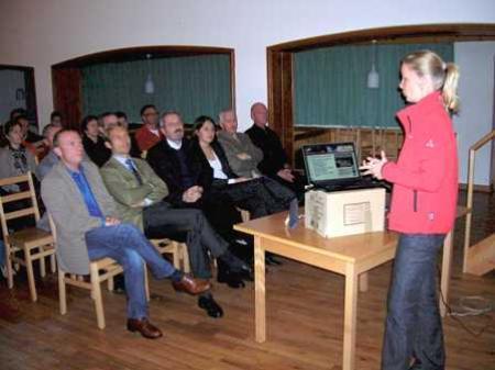 Sabrina Klehenz informierte über die Entwicklungen in Gaschurn-Partenen.