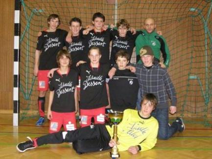 Das U15-Team des FC Sohm Alberschwende wurde Wälder Hallenmeister.
