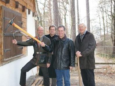 Philip Lutz, Dr. Heinz Werner Blum, BR Edgar Mayer, Altbürgermeister der Stadt Feldkirch, Dr. Heinz Bilz (v.l.n.r.)