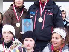Die siegreichen Mädchen vom Sportgymnasium Dornbirn.