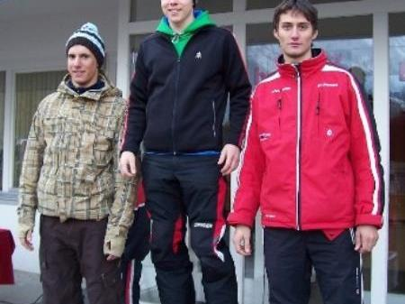Mario Welte (Mitte) war der Tagesschnellste.