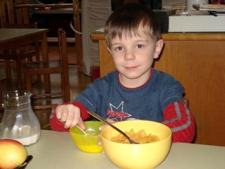 Den Kids schmeckt die gesunde Jause im Kindi.