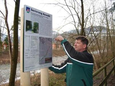 Der Auwald entlang der Frutz wird als wichtiges Landschaftselement aufgewertet.