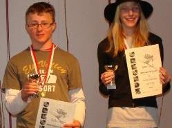 Die schnellsten Skifahrer der HS Hittisau.