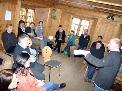 Internationale Experten bei einer Fachtagung über die Zukunft der Museen im Montafon.