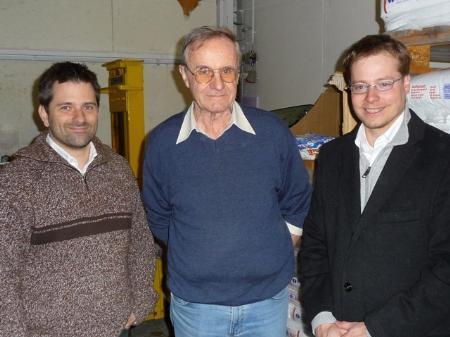 von links: Musikschuldirektor Michael Herrles, Ignaz Matt, DI Julian Müller