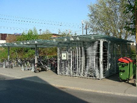 Fahrradboxen werden kaum genutzt.