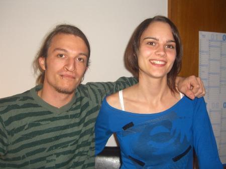 Jugendarbeiter Pierre Bösch und Theresa Kalb.