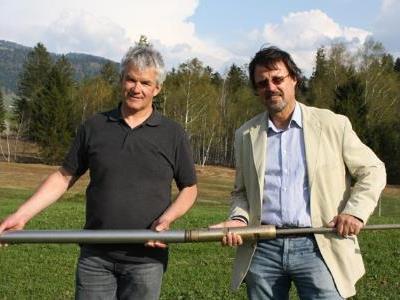 Bgm. Arnold Hirschbühl und Prof. Klaus Hoeggl