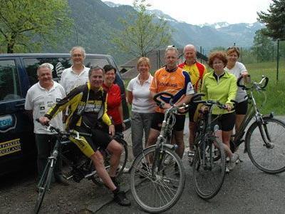 Die holländischen Radfahrer machen sich auf den Weg nach Rom.