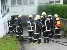 Feuerwehrleute im Übungseinsatz