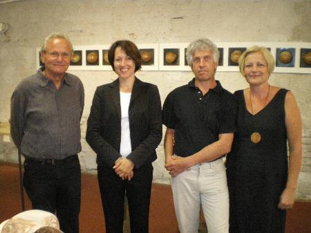 Klaus Korpiun, Judith Reichart, Kurt und Kim Huppenkothen (v.l.)