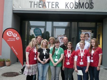 (v.l.n.r.) Ernst Hagen (FPÖ), Karin Fritz (GRÜNE), Michael Ritsch (SPÖ) sowie Thomas Winsauer (ÖVP) stellten sich den Fragen der Jugendlichen.