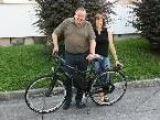 Bürgermeister Karl Wutschitz und Brigitte Pöder mit dem neuen Landrad.
