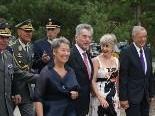 Bundespräsident und Landeshauptmann auf dem Weg zur Eröffnung