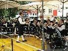 Die Bauernkapelle der Stadtmusik begeistert mit böhmischen Klängen.