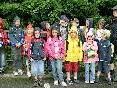 Die Schülergruppe des Waldtages vom 7. Juli