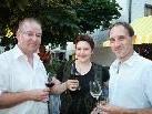 Egon Haueis, Ulli Fink und Winzer Matthias Marchesani