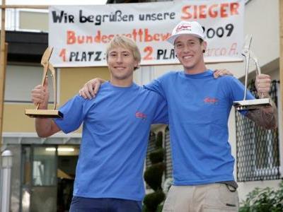 Elias Burtscher und Marco Armellini holten Gold und Silber bei Bundeslehrlingswettbewerb.