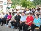Große Beteiligung bei der Ehrentafelnethüllung in Übersaxen.