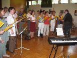 Intensive Chorproben auf der Werkwoche