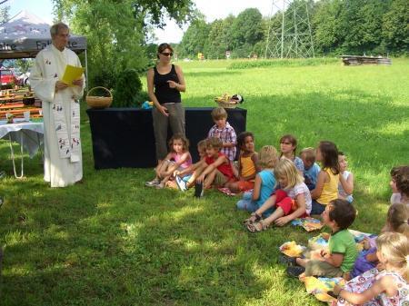 Kindersegnung im Kindergarten Bifang in Rankweil.