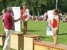 Landeshauptmann Sausgruber gratuliert Sonja zu Ihrer 12ieinmaligen Leistung
