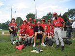 Team Austria mit dem New York Yankee-Superstar Jeff Nelson