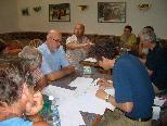 Zur Sache ging es bei der Besprechung über die geplante Kunsteisrodelbahn in Bludenz-Hinterplärsch.