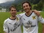David Geiger (li.) und Martin Wolf erzielten die Egger Treffer.
