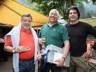 Die Bürgermeister Rudi Lerch und Erwin Bahl gratulierten Hubert Malin