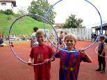 Die Kinder hatten mit bei den verschiedenen Spielstationen einen mords Spaß.