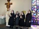 Die drei Jubilarinnen feierten ihre 70 jährigen Profess