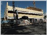 Die neue Bank wird in Holzbauweise errichtet