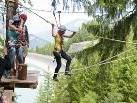 Ein richtiges Outdoor-Erlebnis stellt der Waldseilpark Golm dar.