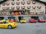 Ferraritreffen beim Hotel Post