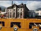 Beim Gelände der Brauerei Frastanz ging gestern voll die Post ab