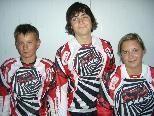 Das Siegertrio bei der VM 2009 (von links): Michael Lingg (2.), Thomas Kleiner (1.) und Petra Kleiner (3.).