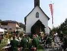 """Der Musikverein Bildstein gestaltete den Frühschoppen beim """"Michelefest""""."""